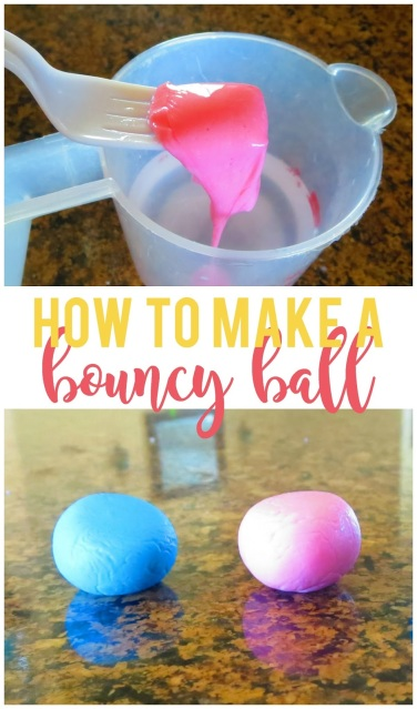 How to Make a Bouncy Ball--My kids love to make and play with these fun homemade bouncy balls.  So much cheaper than buying them when I know they'll just get lost!