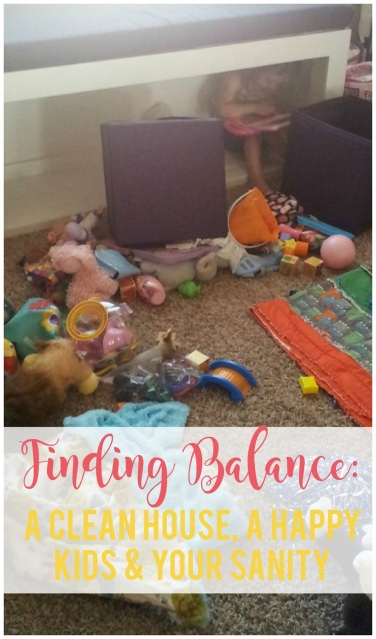 Finding the Balance Between a Clean House, Happy Kids and Your Sanity--great tips on how to find balance at home in these areas.