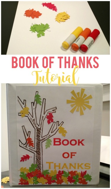 Book of Thanks--quick and simple tutorial on how to make a Book of Thanks for commemorating Thanksgiving each year!
