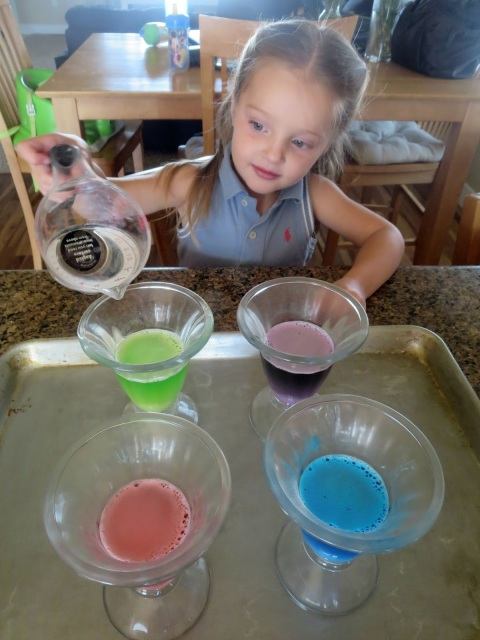Color Explosions--Watch your kids faces when they do this fun and simple experiment using household ingredients!