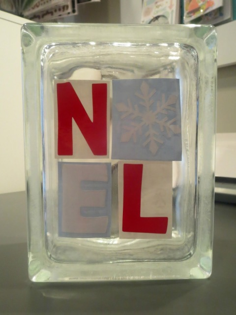 How to Make a Holiday Glass Block--an easy decoration to make for yourself or as a gift for holidays, birthdays, weddings, etc