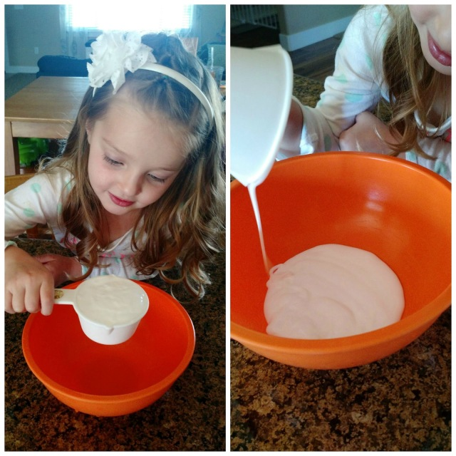 Homemade Gak--only 3 ingredients and provides hours of fun.  Also a great gift or party favor!