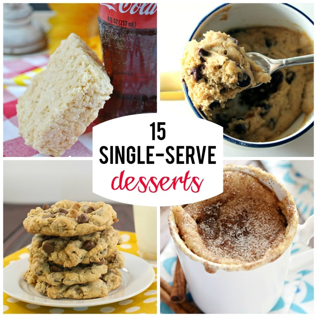 15 single-serve desserts--perfect for those cravings for a sweet treat with a little bit of built in portion control
