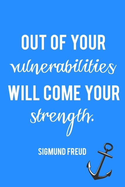 It is through vulnerability that we find strength.  Great thoughts on why being vulnerable matters.
