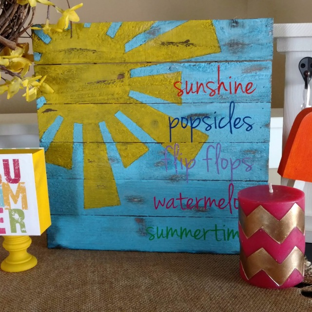 Bright colors are my key to decorating for the summertime.