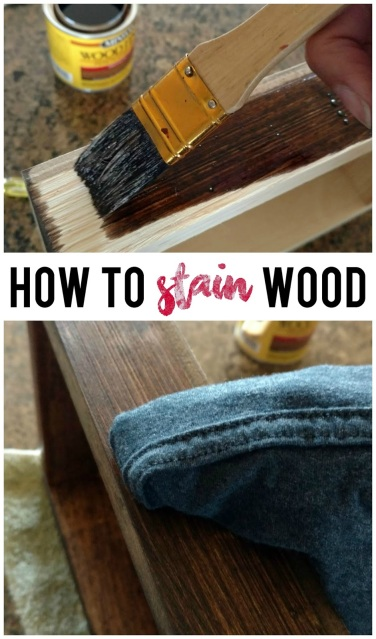 A simple, step-by-step tutorial on how to stain wood