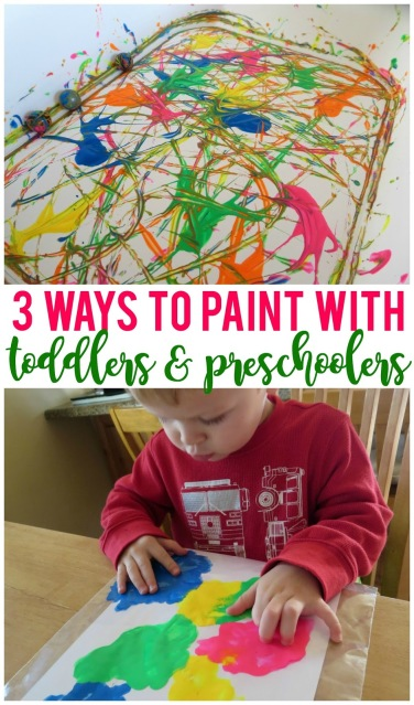 Painting with your little kids doesn't have to be messy and can be a lot of fun!