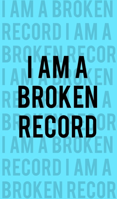 Parenting sometimes feels the same as a broken record--always repeating ourselves.  But who's learning more: our kids or us?