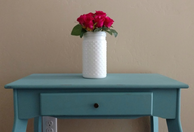 Use chalk paint for a quick furniture makeover without the prep work of sanding!