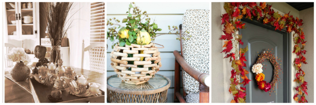 Fall Home Tour: Front Porch and Mantle Inspiration plus 8 other bloggers share how they decorate their homes for the fall!
