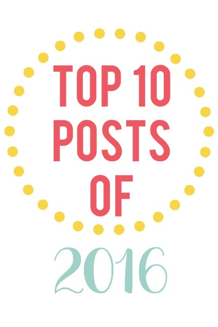 Find out what my top 10 most popular posts were for 2016!  You might be surprised what #1 is.