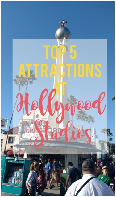 A list of the top 5 attractions at Disney Hollywood Studios (plus great tips on how to plan your day)