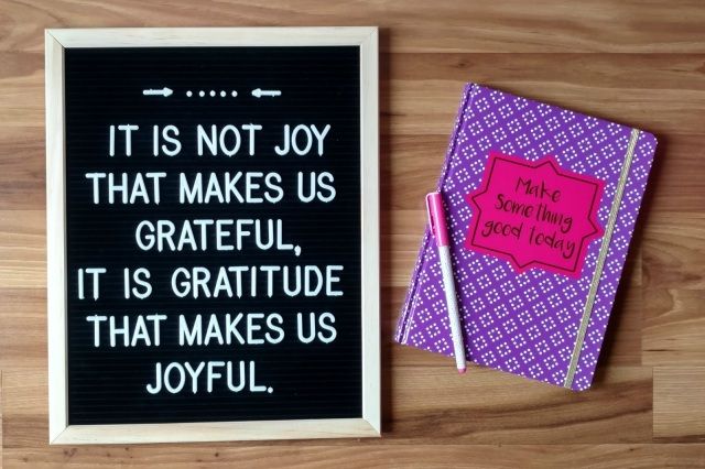 Why should you start a joy journal?  Joy and gratitude are connected and our focus on one will always bring the other.