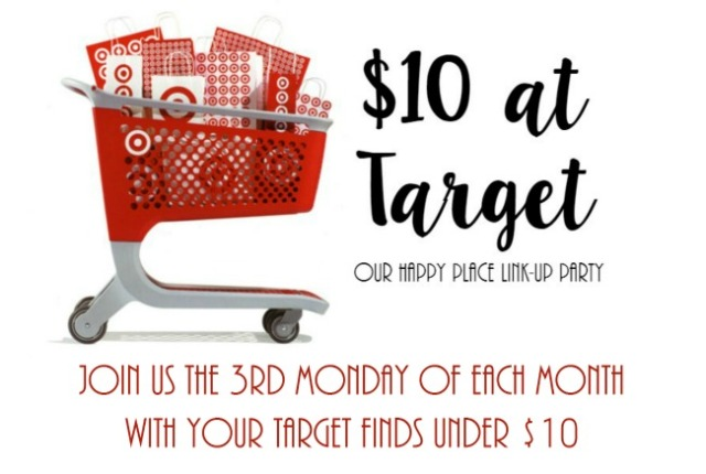 $10 at Target  |  Join us for our monthly link up party on the third Monday of each month and see what we got for $10 at Target!