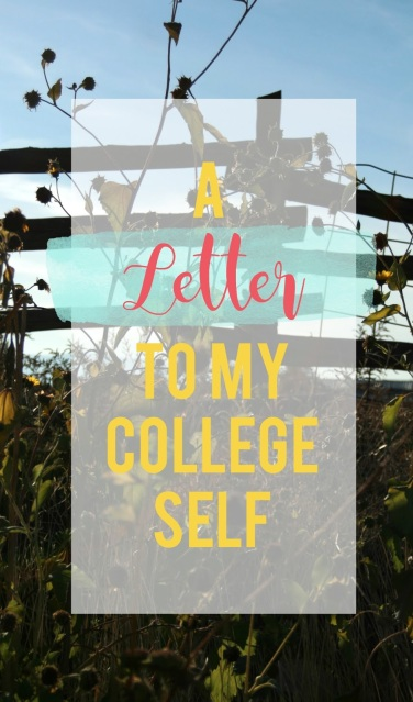 If you could go back and give your college self advice, what would you say?  See what I would say and tell me if you agree!